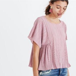 Madewell Texture & Thread Micropleat Top Blush L
